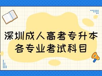 深圳成人高考专升本各专业考试科目